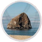 Haystack Rock - Pacific City Oregon Coast Round Beach Towel