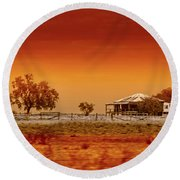 Hazy Days Round Beach Towel