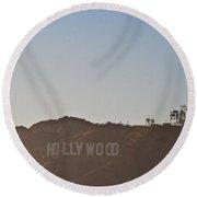Hazy Hollywood #2 Round Beach Towel