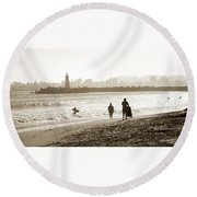 Hazy Lazy Afternoon Round Beach Towel