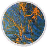 Hd 189 Exoplanet Surface Round Beach Towel