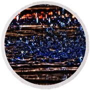 Hdr Water Dancer  Round Beach Towel