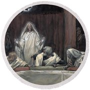He Appeared To The Eleven Round Beach Towel by Tissot