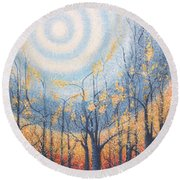 He Lights The Way In The Darkness Round Beach Towel