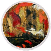 He Reigns Supreme Forever II Round Beach Towel