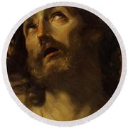 Head Of Christ Crowned With Thorns 1620 Round Beach Towel