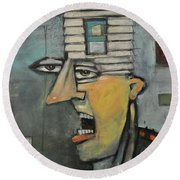 Head Of The House Round Beach Towel