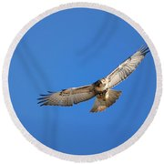 Head On Soar Round Beach Towel