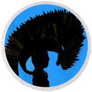 Headdress Round Beach Towel