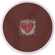 Headheartandspirit.jpg Round Beach Towel