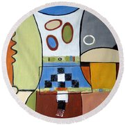 Headspin Round Beach Towel