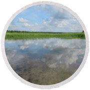 Headwaters Of The Mississippi Round Beach Towel