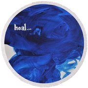 Heal Round Beach Towel