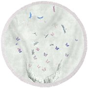 Heal Round Beach Towel