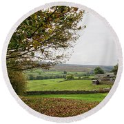 Healaugh, Swaledale Round Beach Towel