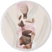 Healing Energy Collection Round Beach Towel