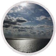 Healing Light Round Beach Towel