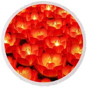 Healing Lights 2 Round Beach Towel