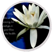 Healing Lily Round Beach Towel