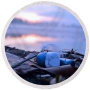 Healing Stones Balancing Meditation Art  Round Beach Towel