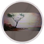 Health Wealth And Benevolence Round Beach Towel