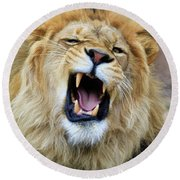 Hear Me Roar Round Beach Towel