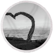 Heart Arch Round Beach Towel