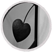 Heart Art Round Beach Towel