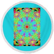 Heart At The Center Round Beach Towel
