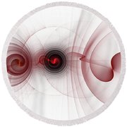 Heart Break - Abstract Round Beach Towel