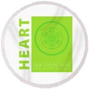 Heart Chakra Series Three Round Beach Towel