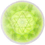 Heart Chakra Series Two Round Beach Towel