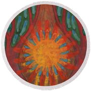 Heart Of Forest Round Beach Towel