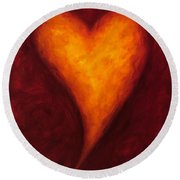 Heart Of Gold 2 Round Beach Towel