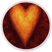 Heart Of Gold 3 Round Beach Towel