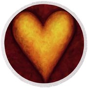 Heart Of Gold 4 Round Beach Towel