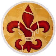 Heart Of New Orleans Round Beach Towel