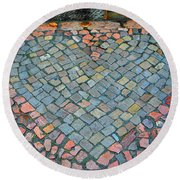 Heart Of Stone Round Beach Towel