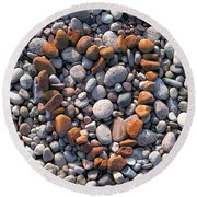 Heart Of Stones Round Beach Towel