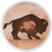 Heart Of The Buffalo Round Beach Towel