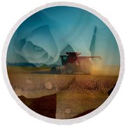 Heart Of The Delta Round Beach Towel