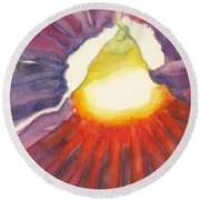 Heart Of The Flower Round Beach Towel
