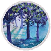 Heart Of The Forest Round Beach Towel