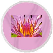 Heart Of The Lotus Round Beach Towel