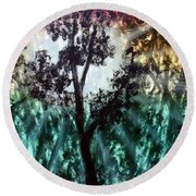 Heart Of The Rain Forest Round Beach Towel