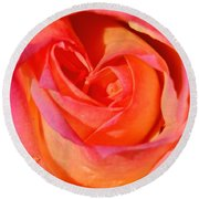 Heart Of The Rose Round Beach Towel