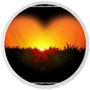 Heart Of The Sunrise Round Beach Towel