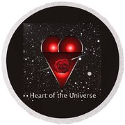 Heart Of The Universe Round Beach Towel
