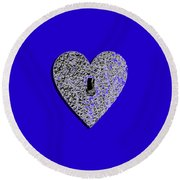 Heart Shaped Lock .png Round Beach Towel