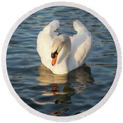 Heart Shaped Pride And Grace Round Beach Towel